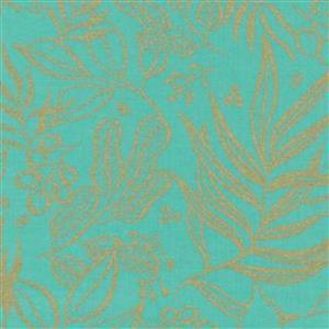 Moda Moody Bloom Aqua Fabric 0.5m