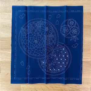 Sashiko Seasons Fabric Panel: 30x30cm (12 x 12