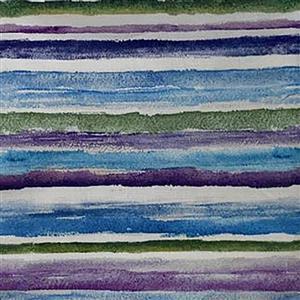 Michael Miller Dreaming Of Tuscany  Steggered Stripe Purples 0.5m