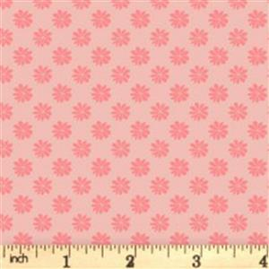 Liberty English Garden Collection Pink Floral Dots Fabric 0.5m